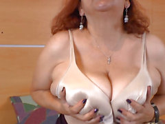 So excited latin granny masturbates with 2 toys