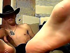 Homosexuell kuk Cowboy vänner Ty och Lee aldrig runkade rm tills
