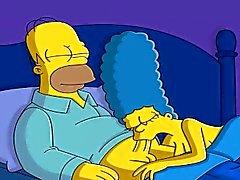 Tecknad film porr Simpsonsen Porr spionkamera , webcam mom samt pappa
