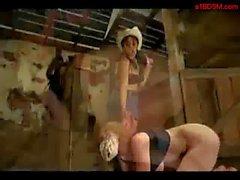 Blonde Girl Montada Spanked Getting atados con la vaquera In The Encanto