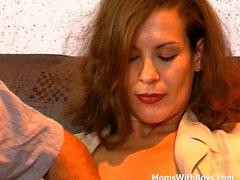 Brunette MILF In Black Stockings Anal gefickt