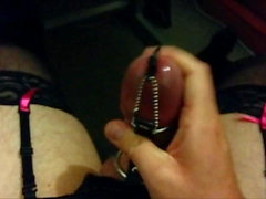 Urethral Plug Cock In Rings Teased Till Cum