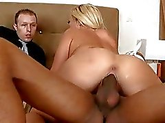 Austin Taylor Takes A Black Length As Hubby Watches
