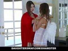 DaughterSwap - Горячие Дочери обманут и трахает Пап