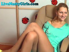 Hot Blonde suutelee hänen pillua Webcam