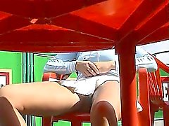 Saucy young chick spreads her legs and gets filmed with a h