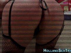 Tetas de puta holandesa spunked