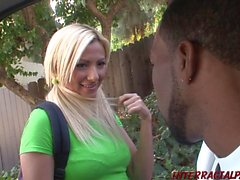 Hung black stud pussy drills cock hungry schoolgirl interracial porn