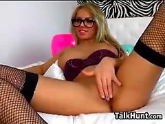 Blonde Bigboob free masturbation show on webcam