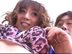 Sereno asiático trio para Lustful Mai Serizawa