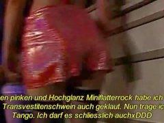 Latex Maid Luder pressen scheiss Transvestitenschwein im Müllpresswagen tot