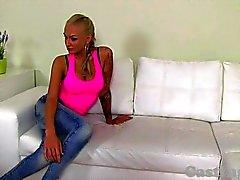CASTING - cornée Blond amateur Extreme putain