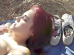 Amateur red hair girl pounded by nasty border patrol officer