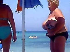 Enorme Granny Praia