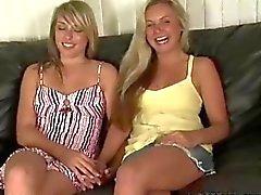 Frisches reiz russischer Freundin Eva und Kiras ersten Vorsprechen