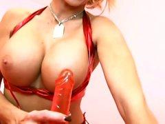 MILF in tedesco Big Tit in perfetto Dirty-Talk ti aiuta Cum