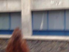 Netter reizvoller Esel in den Jeans, culo hermoso de universitaria