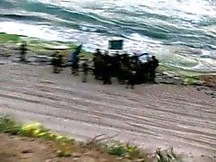 Pareja israelí por la playa