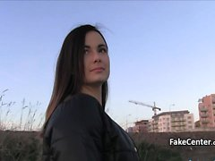 Ukrainian slut fucked for money outdoors