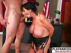 Madre fresca Elektra Lamour folla dulce Su amigo de papá