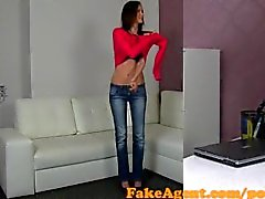 FakeAgent Super skinny amateur Fucked hard in Casting