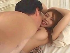 Japanese teen fucked deep in her shaved pussy
