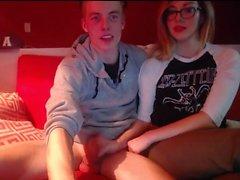 блондинка и большой человек петух на веб-камеру