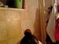 Desi Musulmana Beleza Shamina Banhando Secret Cam