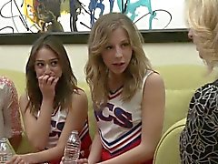 Cheerleader eats milf