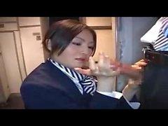 Lentoemännät - annetaan - Hot - Handjob vs. lentokonetila