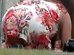 Söpö tyttö seksikäs pikkuhousut kuvattiinpart3