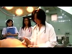 Naughty Oriental doctors working their skillful hands on a