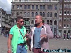 Настоящий сосательный голландский проститутка