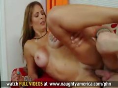 Monique Fuentes screams from younger mans cock