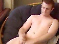 Masturbating punk skater tastes his cum