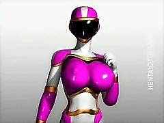 3D Hentai Babe in costume Bänder für Sie