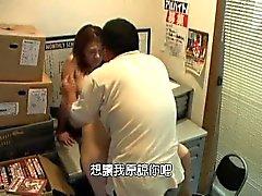 Cute asiatiques filles se faire baiser à l'intervi travail hardcore