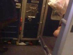 Equipaggio di cabina nel piano aereo