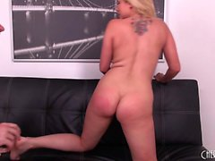 Foxy blonde Alanah Rae rides his prick and they finish with oral
