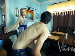 StepSon Creampies His Sneaky Blonde Mom