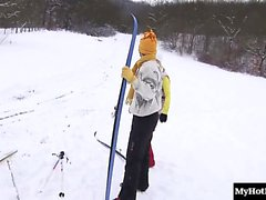 Marry Queen is a hot blonde skiing enthusiast.