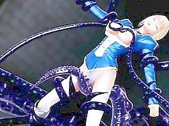 3D hentai tentacle