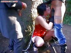 Female escapee caught and punished