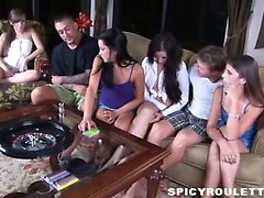 Wild teens Tanner and Alexis Capri play sex game and fuck