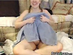 BBW shows her huge tits ob webcam