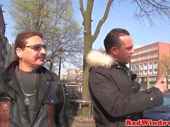 Dutch prostitute fucks and sucks client