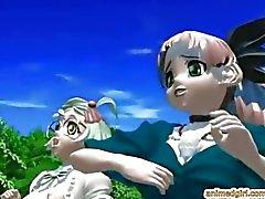 3D Hentai Mädchen wird Monster in der fo gebumst