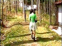 Old Беременная пара обольстить подростка по лесов
