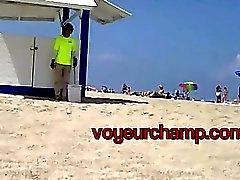 voyeurchamp #Exhibitionist Wife Никки пляжа дразнит Бразилии