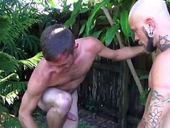 Pierced gay raw fucked